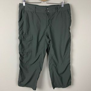 Columbia  Outdoors Hiking Cropped Green Pants